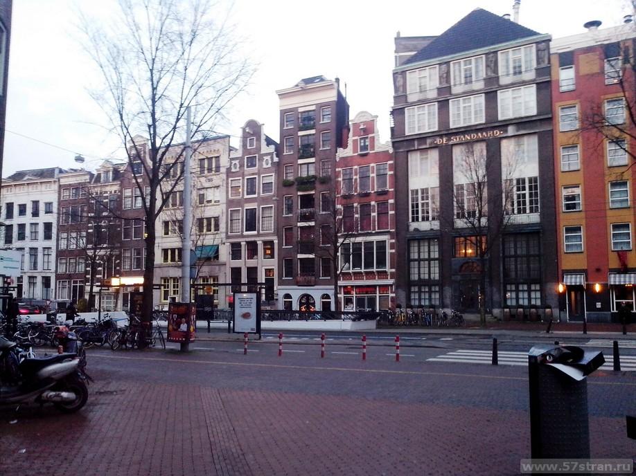 Амстердам - узкие дома