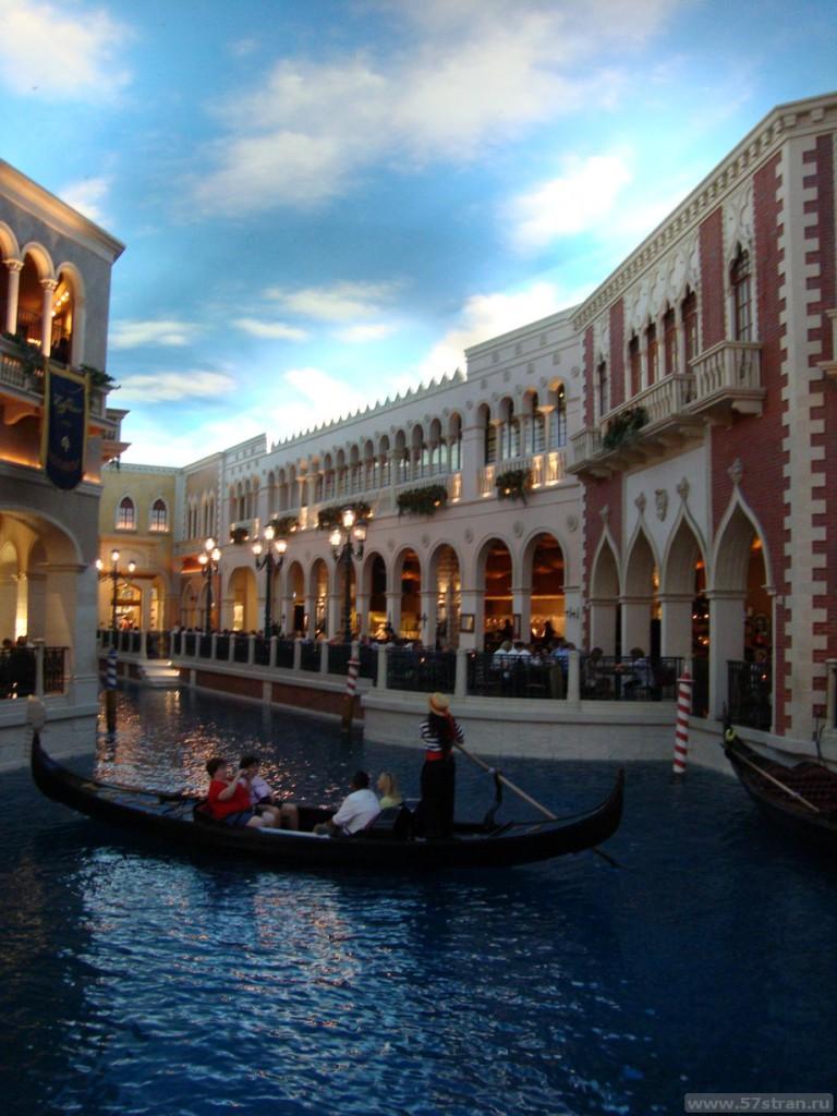 Венецианский гондолы в Лас-Вегасе