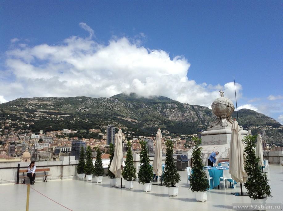Смотровая площадка на крыше музея океанографии в Монако