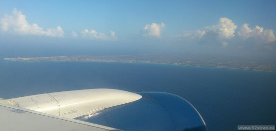 Аруба - вид с самолета