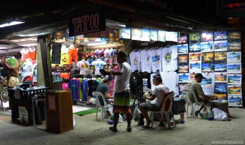 Торговля на белом пляже Boracay