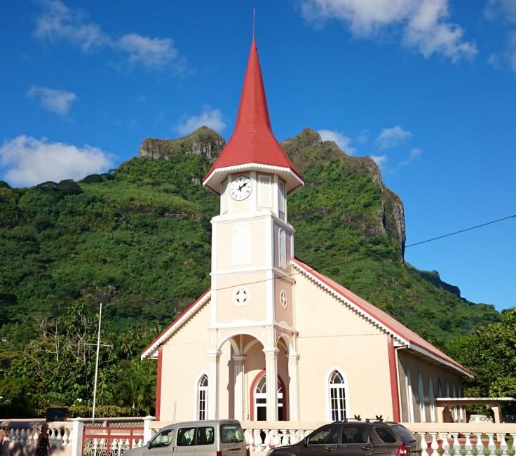Церковь - остров Бора-Бора