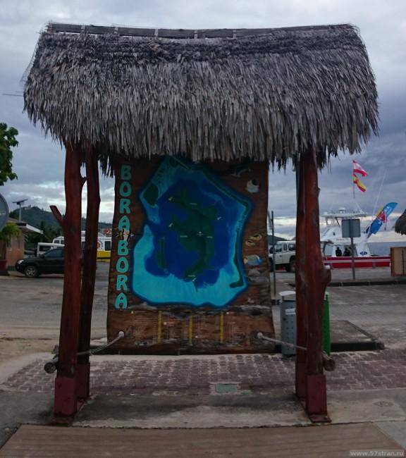 Бора-Бора схема острова
