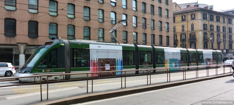 Современный Миланский трамвай