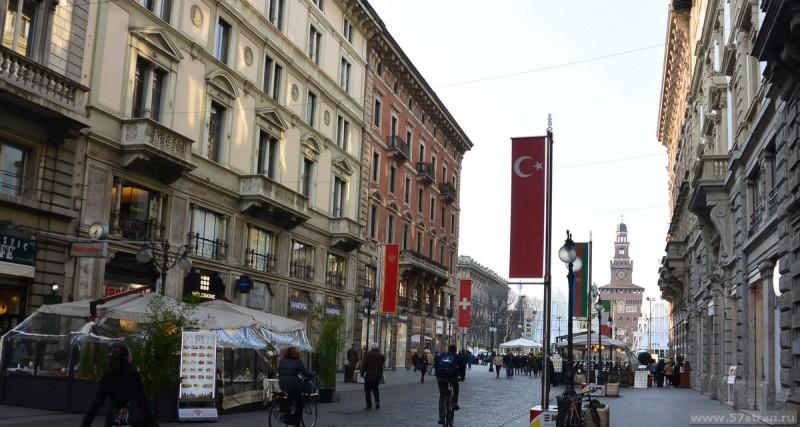 улица Данте в Милане