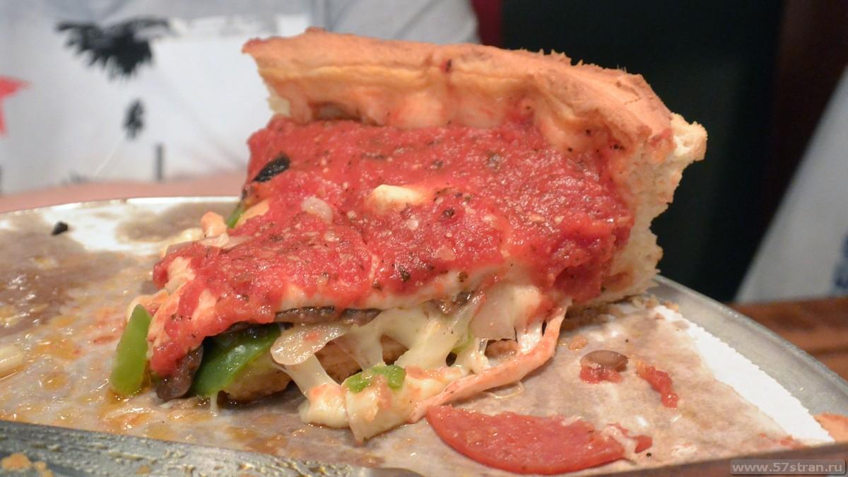 Чикагская пицца в москве
