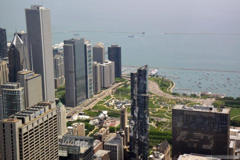 Достопримечательности Чикаго с высоты