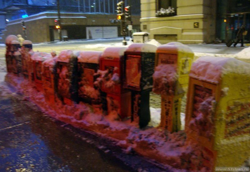 Почтовые ящики зимой в Америке