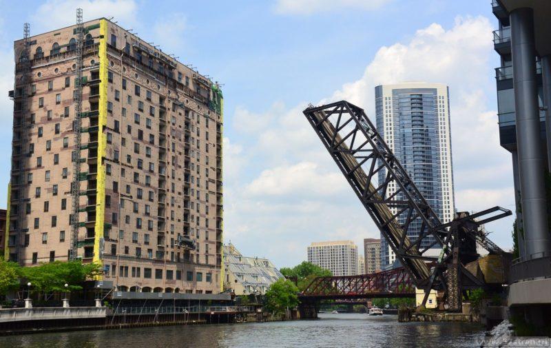 Разводной мост в Чикаго
