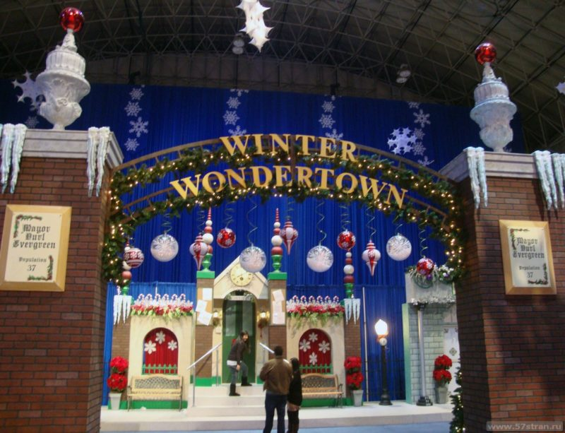 Winter wondertown Chicago