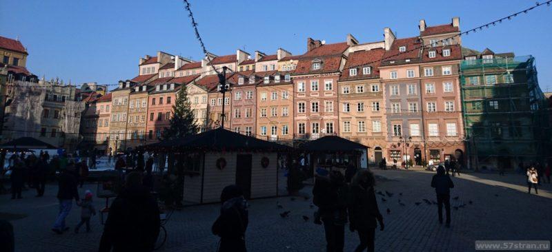 Достопримечательности Варшавы - старая площадь