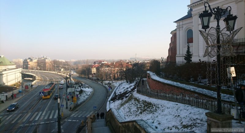 Достопримечательности Варшавы панорама