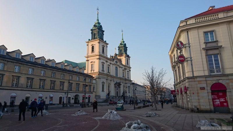 Достопримечательности Варшавы - дворцовая площадь